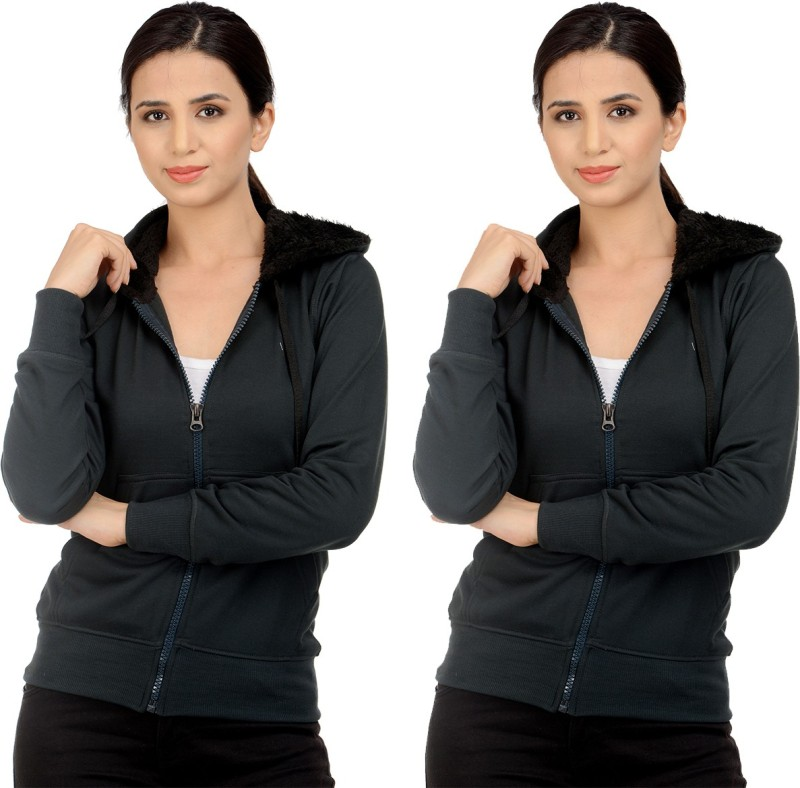 Sanvi Traders Full Sleeve Solid Women's Sweatshirt