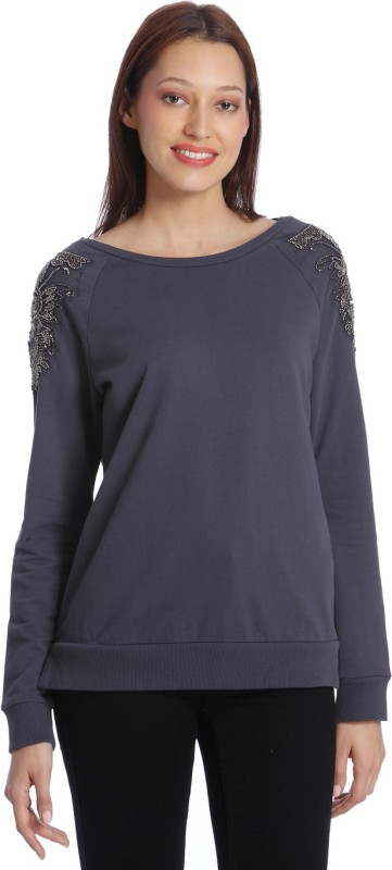 Vero Moda Full Sleeve Embellished Womens Sweatshirt