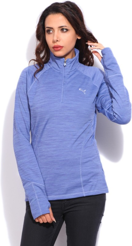 Puma Full Sleeve Striped Womens Sweatshirt