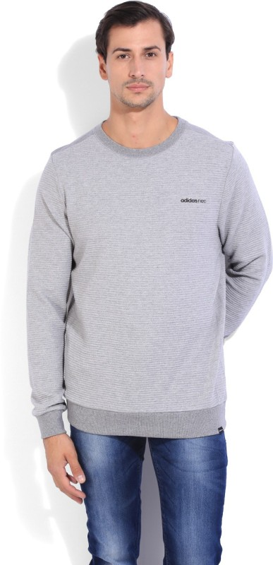 Adidas Full Sleeve Striped Men's Sweatshirt