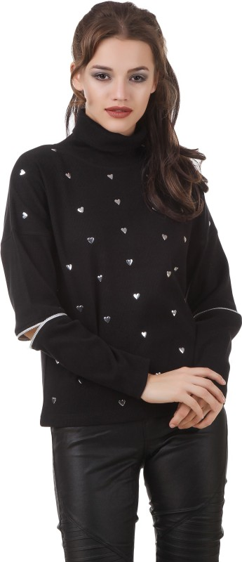 Texco Full Sleeve Embellished Womens Sweatshirt