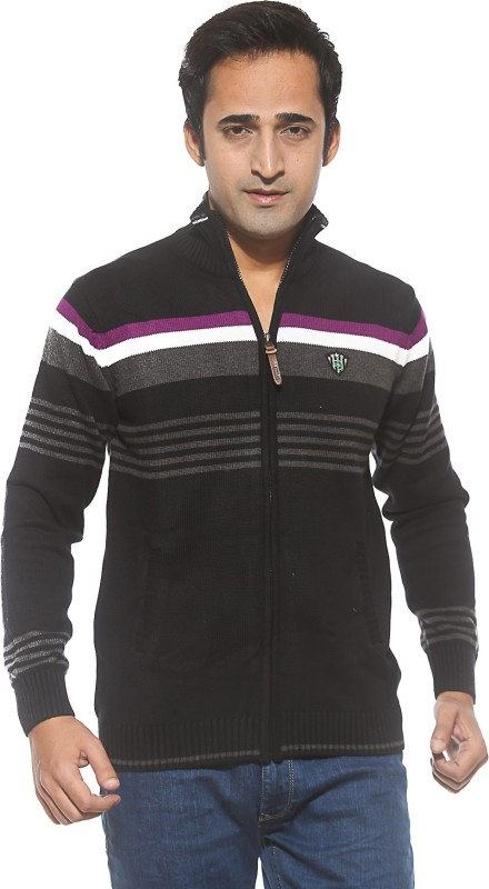 Spykar Full Sleeve Striped Mens Sweatshirt