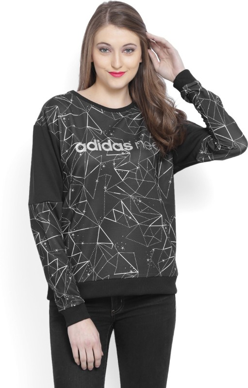 Adidas Full Sleeve Printed Womens Sweatshirt