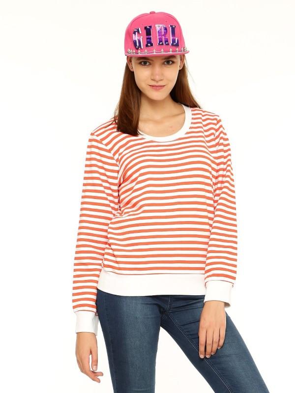Vvoguish Full Sleeve Striped Womens Sweatshirt
