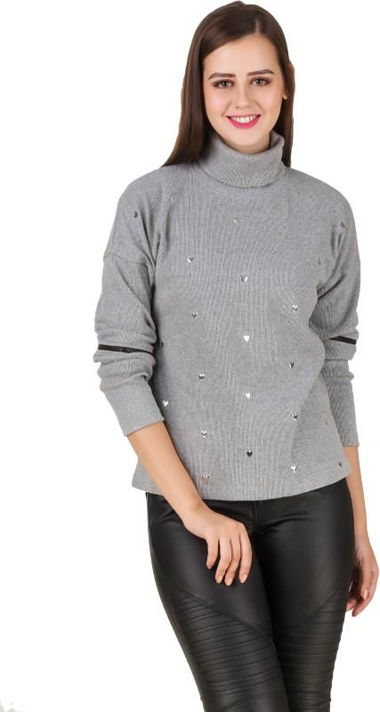 Texco Full Sleeve Self Design Women's Sweatshirt