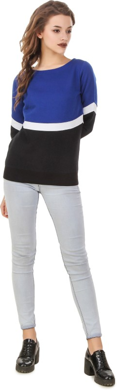 Texco Full Sleeve Solid Womens Sweatshirt