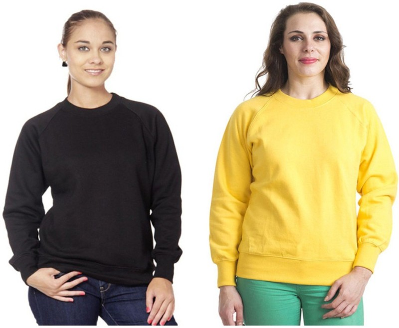 Finesse Full Sleeve Solid Women's Sweatshirt