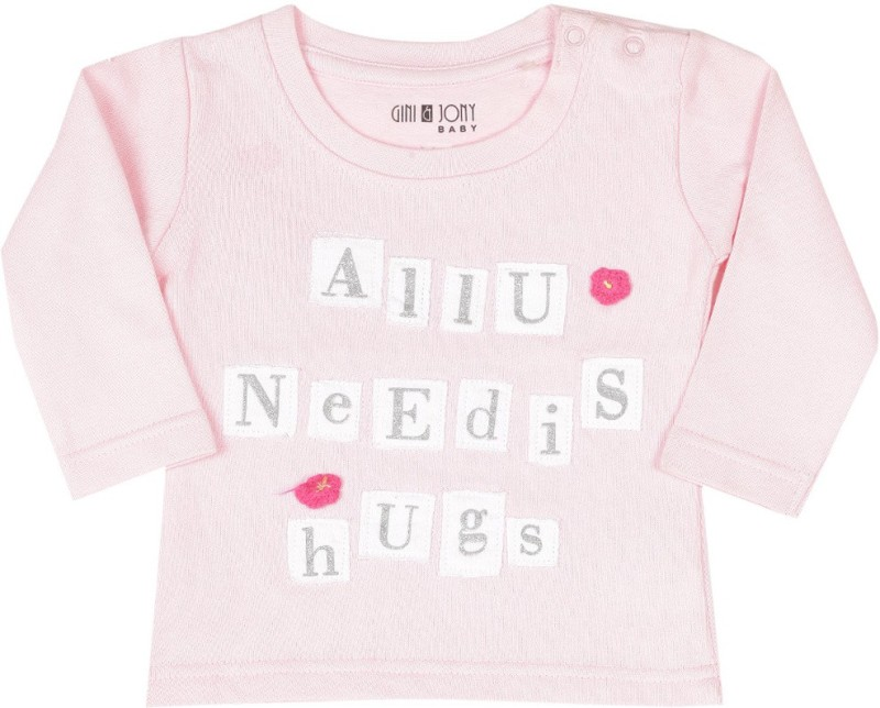 Gini & Jony Full Sleeve Solid Baby Girls sweatshirt