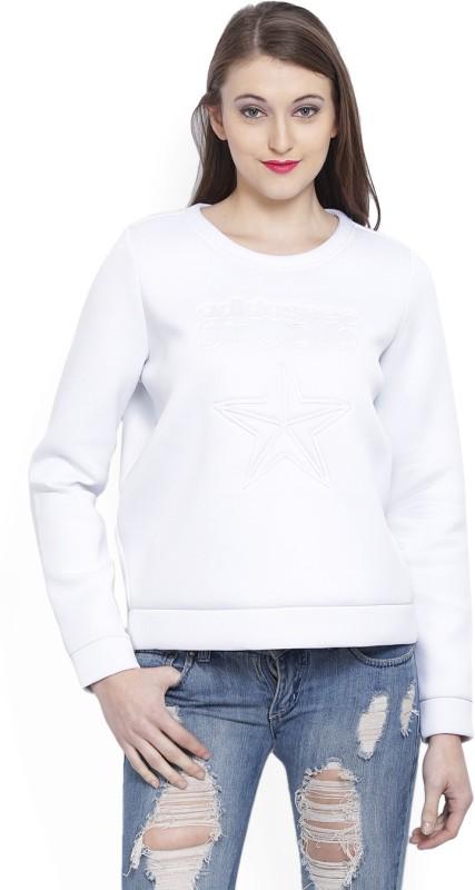 ADIDAS Full Sleeve Self Design Womens Sweatshirt
