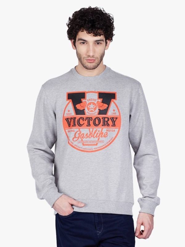 3 Degre Full Sleeve Graphic Print Mens Sweatshirt