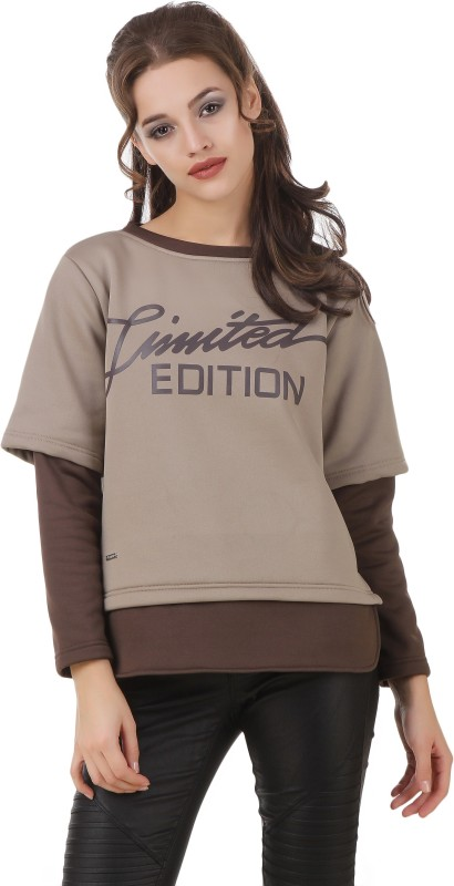 Texco Full Sleeve Printed Womens Sweatshirt