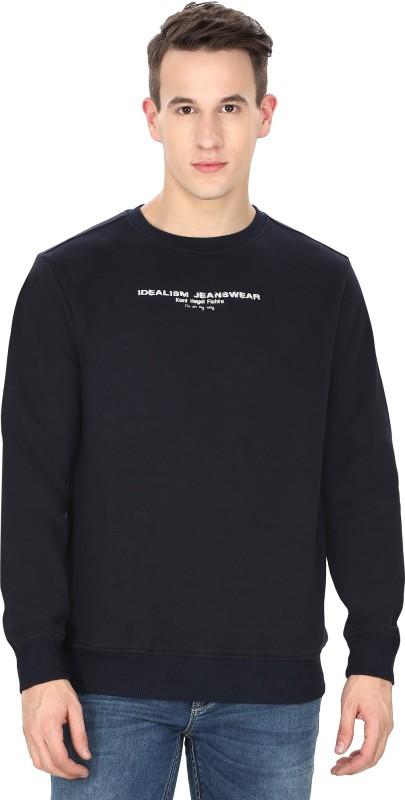 Idealism Full Sleeve Solid Men's Sweatshirt