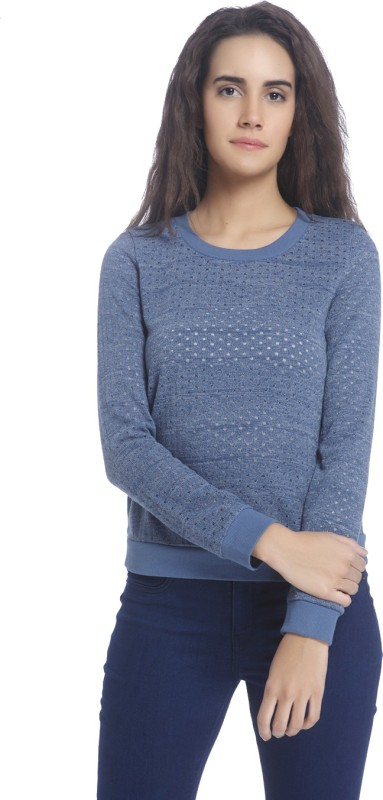 Vero Moda Full Sleeve Self Design Womens Sweatshirt