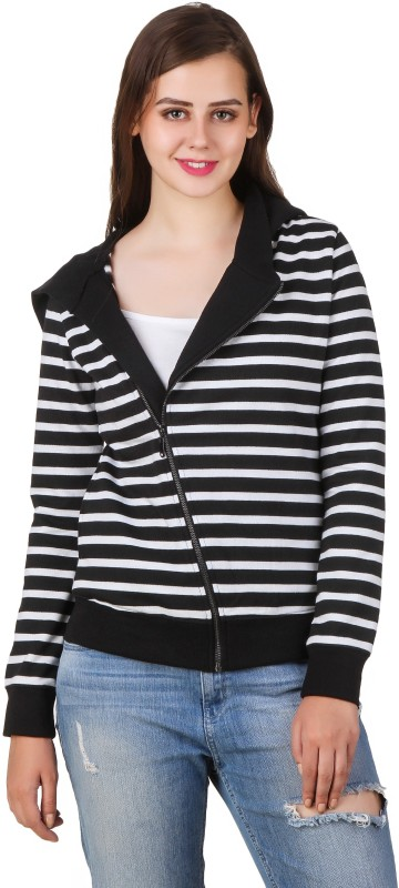 Texco Full Sleeve Striped Womens Sweatshirt