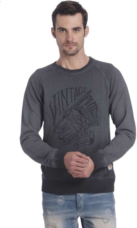 Jack & Jones Full Sleeve Printed Mens Sweatshirt