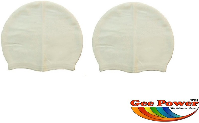 Gee Power Imported (Set of 2) Swimming Cap(White, Pack of 2)