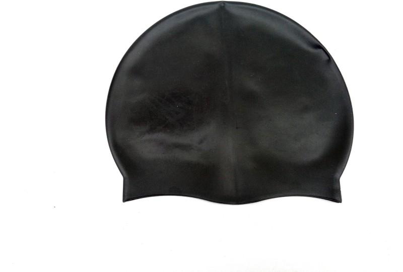 Akki Collection black swimming cap Swimming Cap(Black, Pack of 1)