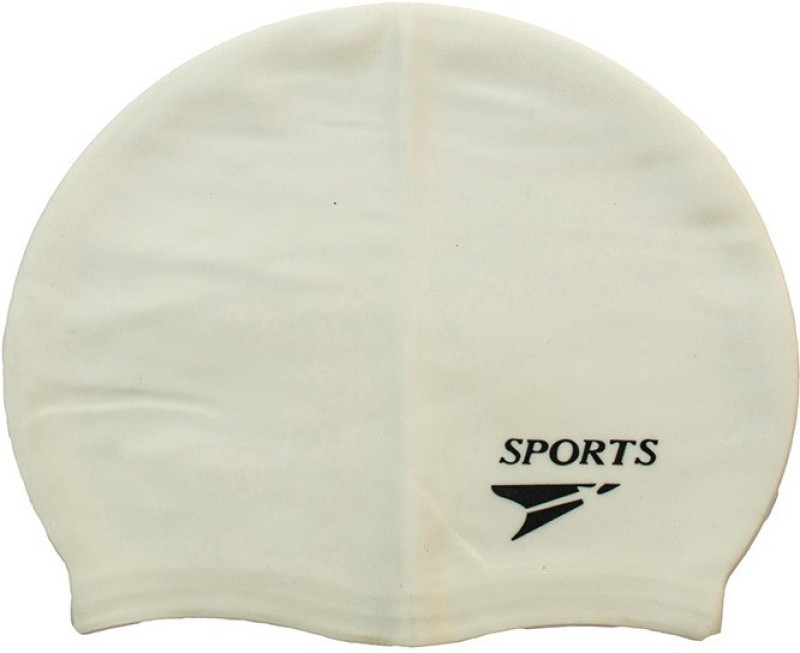 Gee Power Sports Swimming Cap(White, Pack of 1)