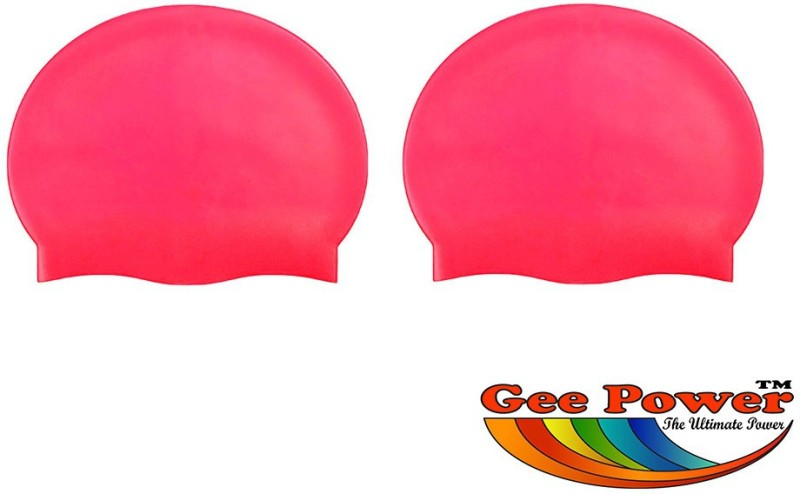 Gee Power Imported Swimming Cap(Red, Pack of 2)