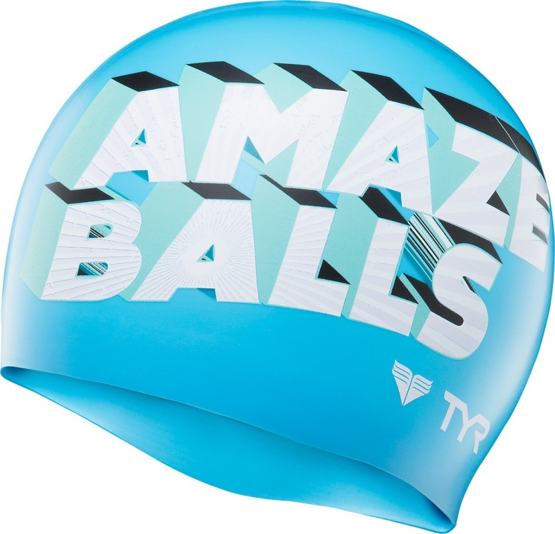 TYR Amaze Balls Swimming Cap(Multicolor)