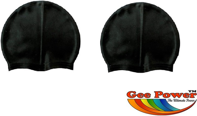 Gee Power Imported (Set of 2) Swimming Cap(Black, Pack of 2)