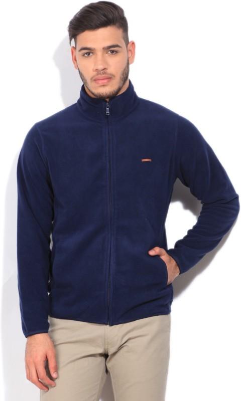 Indian Terrain Solid Mens Fashion Neck Blue T-Shirt