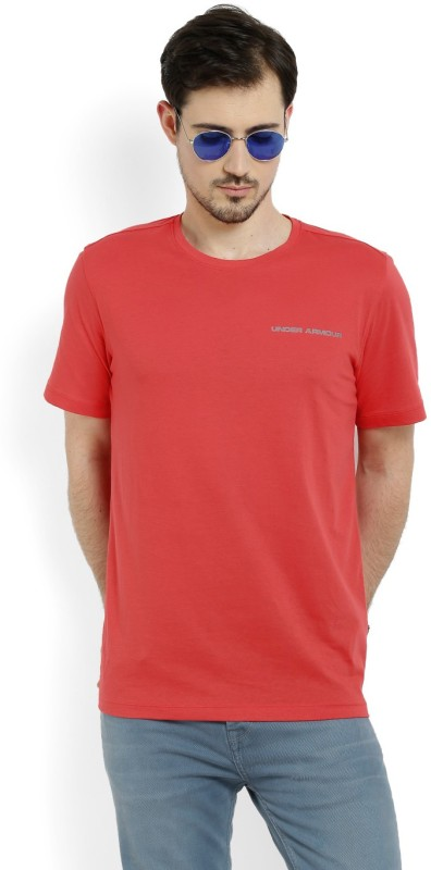 Under Armour Solid Men Round Neck Red T-Shirt