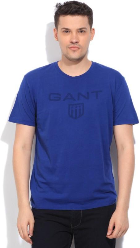 Gant Printed Mens Blue T-Shirt