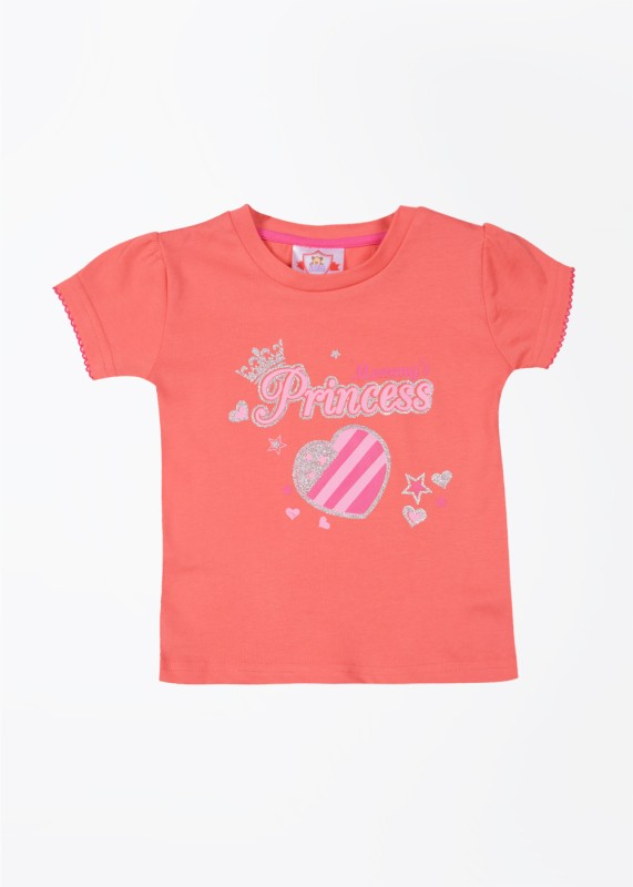 Baby League Printed T Shirt(Pink)