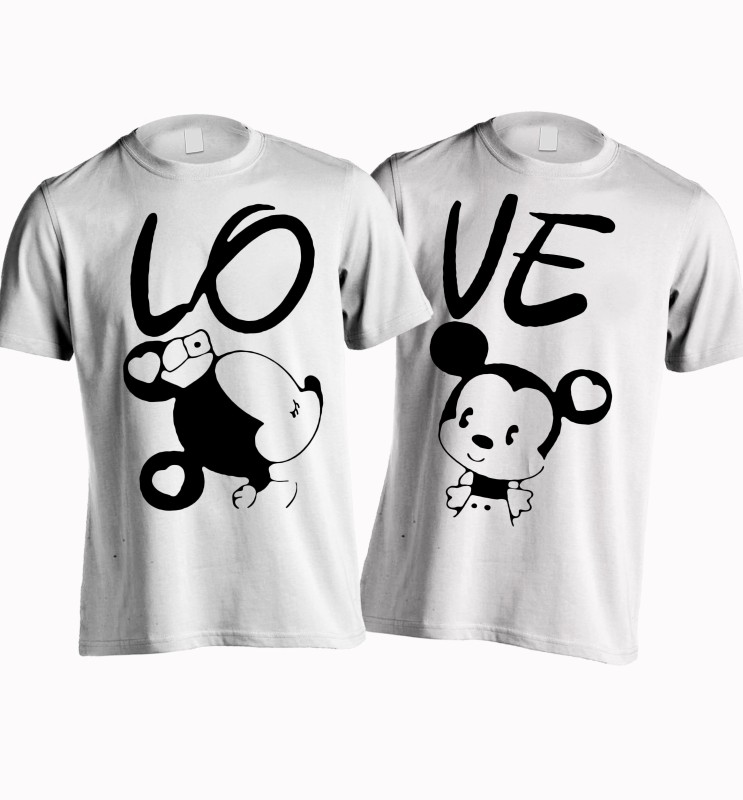 Young Trendz Printed Women's Round Neck White T-Shirt(Pack of 2)