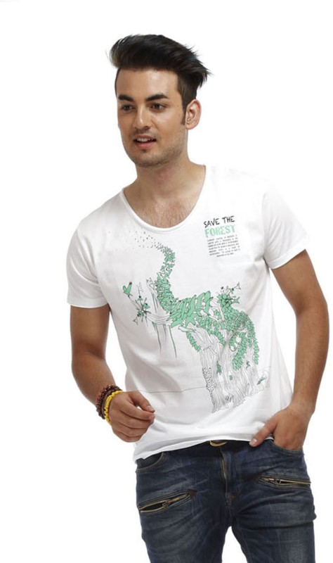 chlorophile-printed-mens-v-neck-white-t-shirt