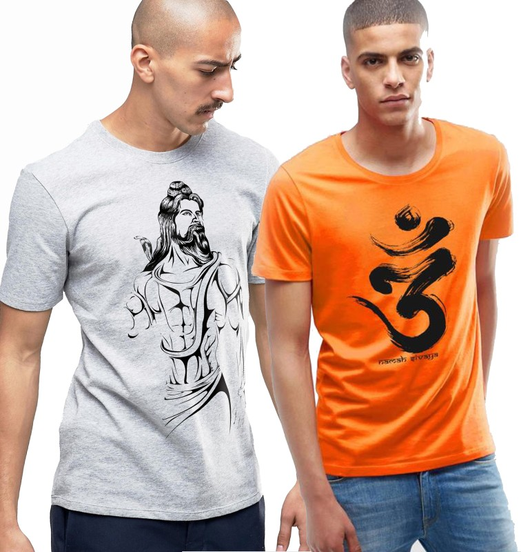 Young trendz Printed Men Round Neck Multicolor T-Shirt(Pack of 2)