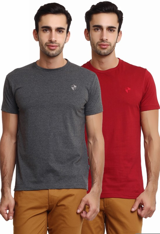 Classic Polo Solid Men's Round Neck Multicolor T-Shirt(Pack of 2)