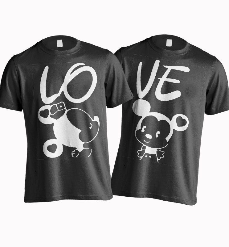 Young Trendz Printed Women's Round Neck Black T-Shirt(Pack of 2)