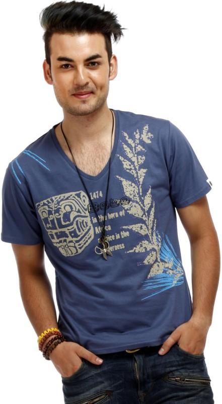 chlorophile-printed-mens-v-neck-blue-t-shirt