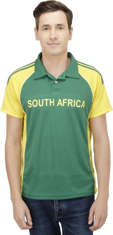 T10 Sports Printed Men's Polo Neck Multicolor T-Shirt