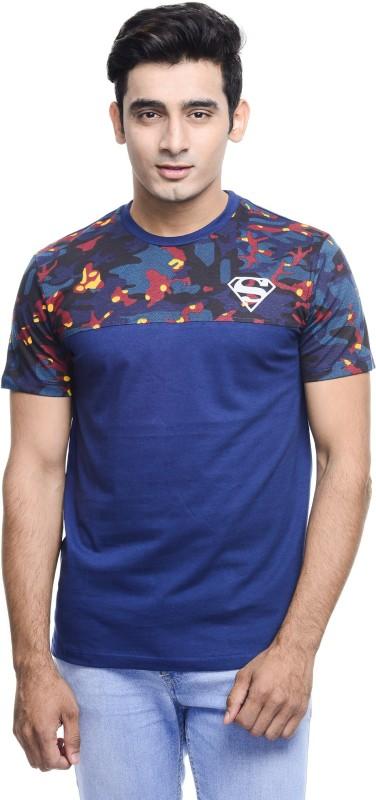 Superman Printed Men's Round Neck Blue, White T-Shirt