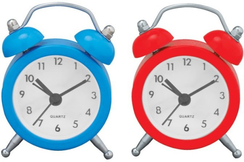 Sale Funda Analog Red, Blue Clock