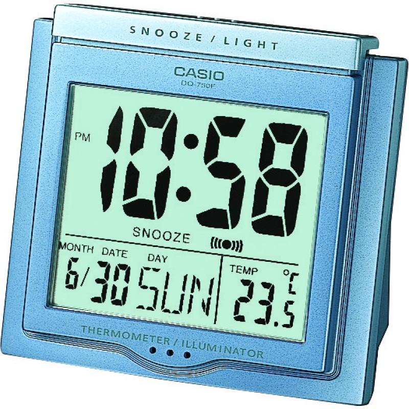 Casio Digital White, Blue Clock
