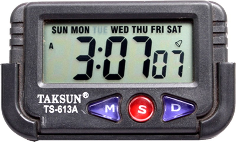 SJ Digital Black Clock