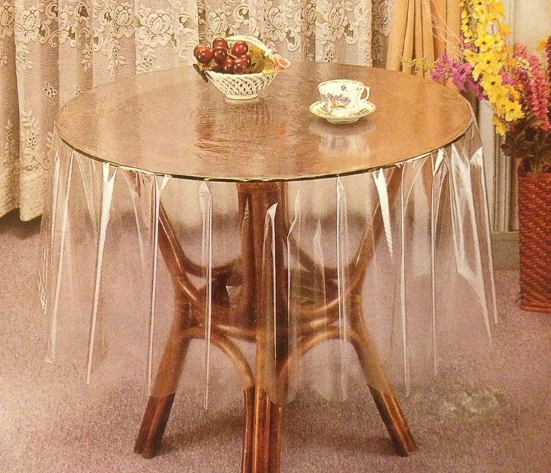 Katwa Clasic Solid 4 Seater Table Cover(Transparent, PVC)