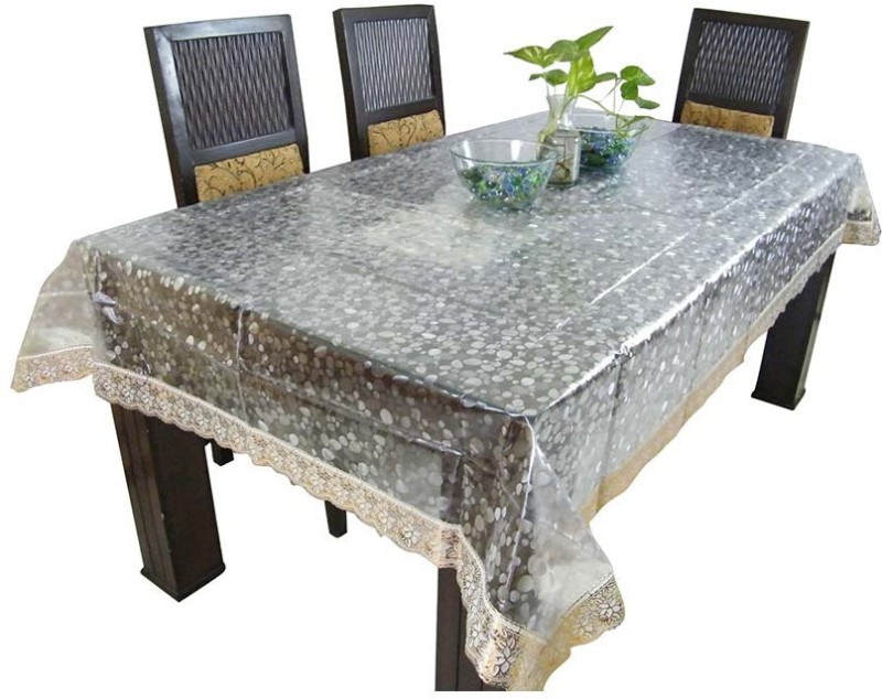 The Fancy Mart Printed 6 Seater Table Cover(Transparent, PVC)