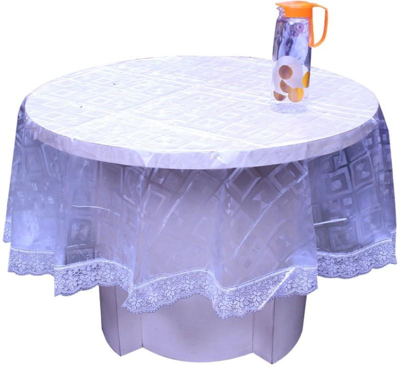 E-Retailer Printed 4 Seater Table Cover(Transparent, PVC)