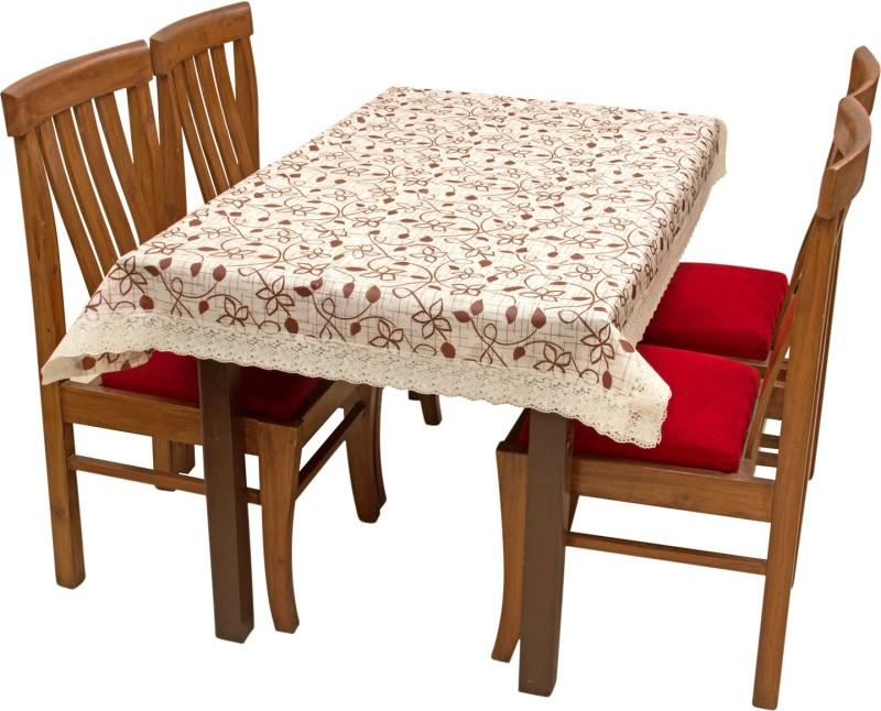 Rajri Decor Printed 6 Seater Table Cover(Multicolor, PVC)