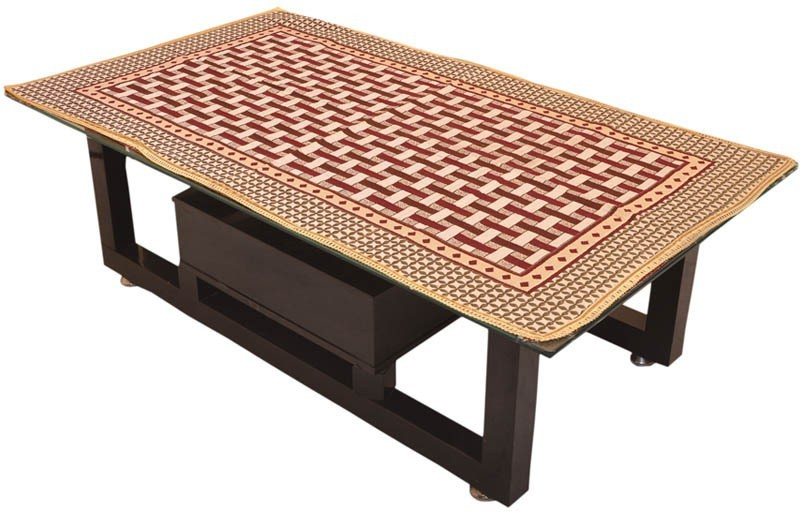 Zesture Geometric 4 Seater Table Cover(Multicolor, Polyester)