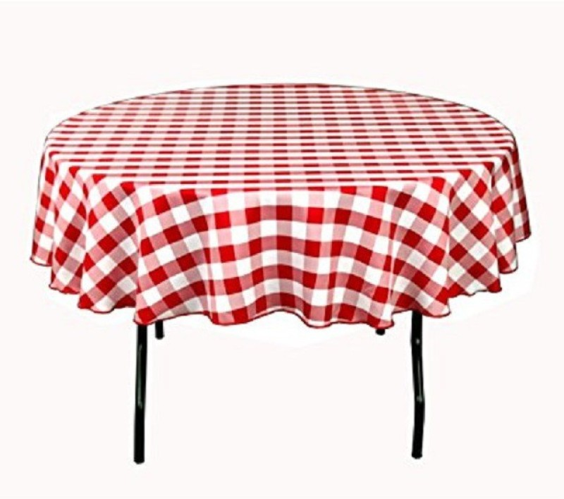 Airwill Checkered 4 Seater Table Cover(Red, White, Cotton)