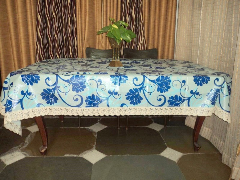 Amita Home Furnishing Floral 6 Seater Table Cover(Multicolor, Plastic)