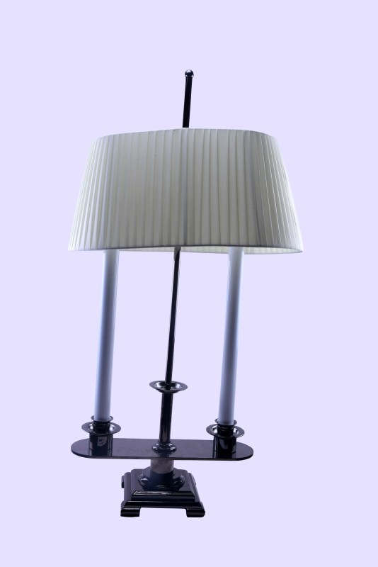 Balang Moon White Table Lamp(42 cm, White)
