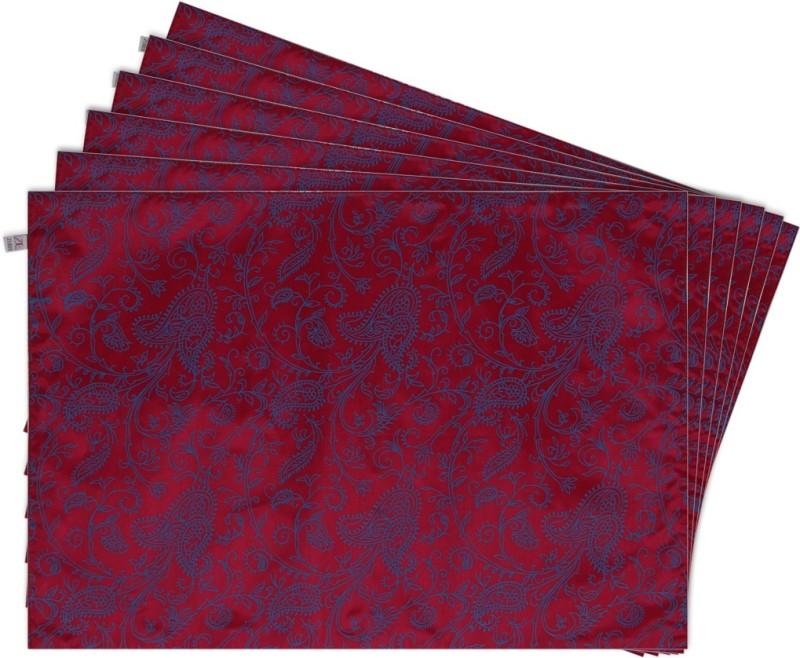 Zubix Rectangular Pack of 6 Table Placemat(Purple, Cotton)
