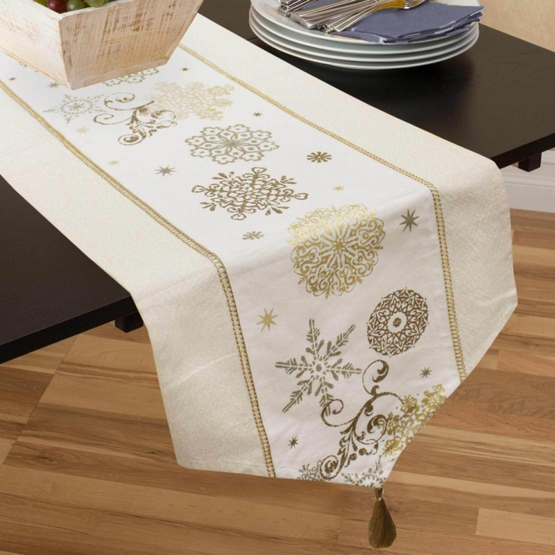 Rhome Multicolor 145 cm Table Runner(Cotton)